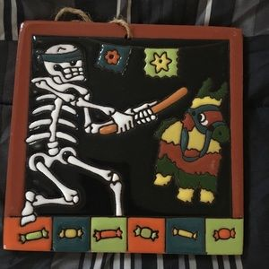 Wall Art - Day of the dead . Skelton with piñata